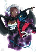 Storm And Nightcrawler by LucianoVecchio