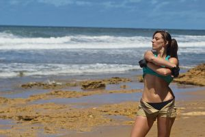 Lara Croft Tomb Raider: Beach 6 by JennCroft