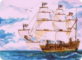English sailing ship by elicenia