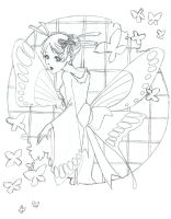 Madame Butterfly sketch by Mireielle