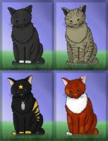 4 cats by oOPolarlichtOo