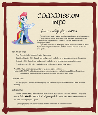 Commission Information by SynCallio