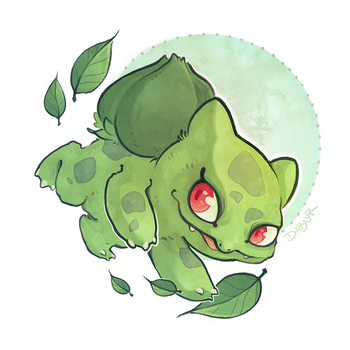 Blubasaur - Pokemon 1 by DablurArt