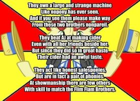 My Little Poetry: Flim Flam brothers by snakeman1992