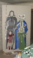 Painted frame with knights and ladies 2 by alexine-pankhurst