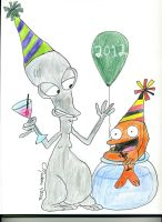 Roger and Klaus' New Year by the-sashimi-frog