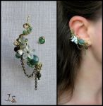 Wind in the grass ear cuff by JSjewelry