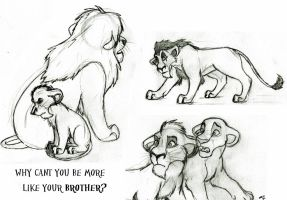 Lion King Sketches by wahyawolf
