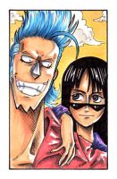 Franky n Robin by CoralSnake