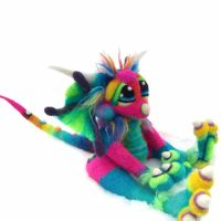 Mini Rainbow Lollibean Dragon by Tanglewood-Thicket