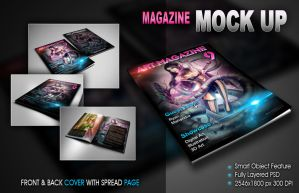 Magazine Mockup by ryan-mahendra