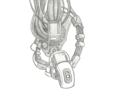 GLaDOS Pencil Drawing by Darkrai4813