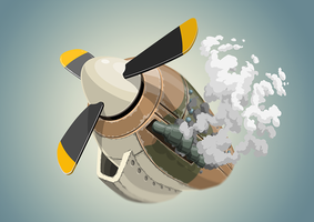 Farm Fighters vector assets - engine concept by SolidAlexei