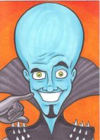 Megamind Sketchcard by maxspider72