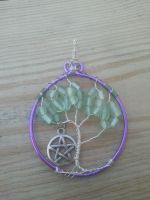 Tree of Life purple pendant :SOLD by WyckedDreamsDesigns