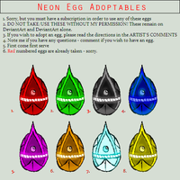 Neon Egg Adoptables - Hatched by TaintedTamer