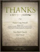 Thanks-A New Perspective Church Flyer Template by loswl