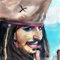 C. Jack Sparrow-watercolours- by mel-lyks-cereal