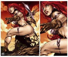 Red Sonja by erickenji