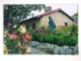 St.Francis in the Garden by richardcgreen