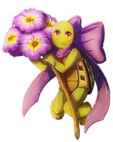 Purple Spring Turtle by CutieClovers