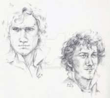 Enjolras and Grantaire by arillia13