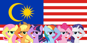 Ponies salute to Malaysia - Mane 6 by BlueVisionPony