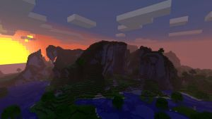 Minecraft 1.8 Sunset by burntcustard