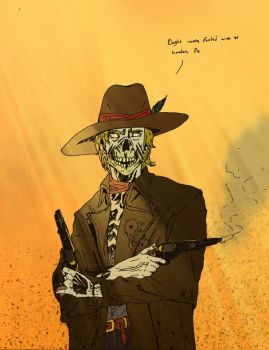 Zombie Cowboy by thehooliganist