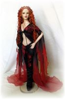 """Ember""  doll repaint outfit by DalilaDolls"