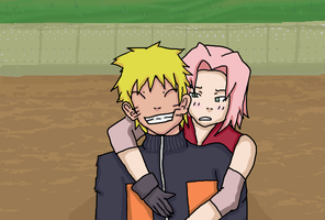 Naruto and Sakura 001 by T5-Fiver