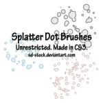Splatter Dot Brushes by sd-stock