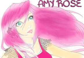 Amy Rose the Human by sonamyANIMEluver