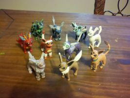 Fake Eeveelutions by mailboxbroussard