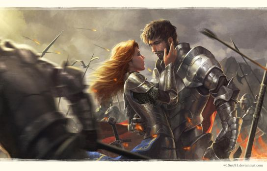 Love in The middle of War by w15nu91