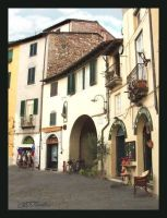 piazza in Lucca, Italy by americanina