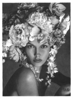'Flores' Graphite Drawing by pesterhugo