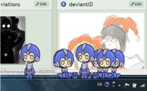 Megaman shimeji -jyo version- by Jyo-kun