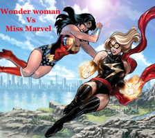 Wonder Woman Vs Miss Marvel by Tony-Antwonio