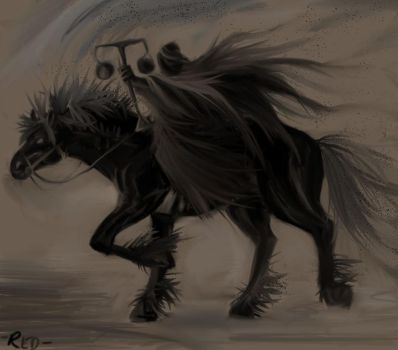 Black horse of the apocalypse by creative-drive