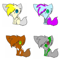 Wolf/Dog adoptables (5 points) CLOSED!! by AirenNova
