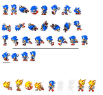 Classic Sonic sprites by dinojack9000