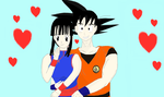 Dragon Ball: Goku and ChiChi by SacredWaterOfDreams