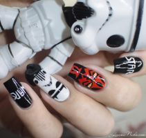 Star Wars Nail Art by Lizananails