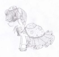 MLP: MuddyMinerial's first skeched out Gala Dress by YouAskMeFirst2