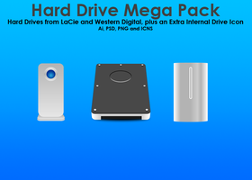 Hard Drive Icon Pack by SuiteDesign