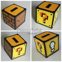 3D Mario Perler coin box by CoolNerdGirl1