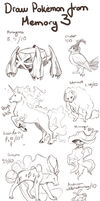 Draw Pokemon From Memory 3 by ShadeofShinon