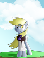 [COMMISSION] Derpy in the Wind by TheAljavis