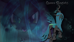Queen Chrysalis wallpaper version 2 by LeonBrony